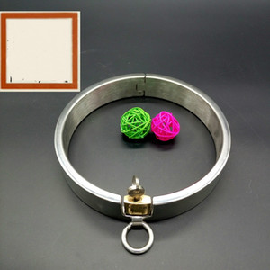 Bdsm Sex Iron Collar Доставка из нержавеющей стали Heavy Duty Игрушки / Thick Sm стопорное кольцо Зеркало Полированная Free Luxury Lwphu
