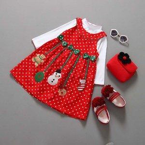 Bambini Baby Girl T Shirt Camicetta Vestito Natale Abiti Natale Fashiion Abbigliamento Bambini Carino Abbigliamento Set