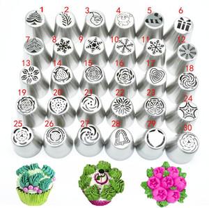 30piece / set Icing Piping Conseils HASARD Noël Russe Piping Conseils de décoration de gâteau fournitures de Russie Outils Pastry Nozzles