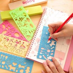 الأطفال متعة البلاستيك رسم قالب لعبة راسم التنفس راسم التنفس لعبة استنسل حاكم diy الإبداعية رسم التعليم اللعب للطفل