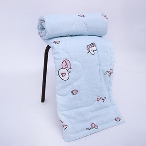 Unicorn Baby Quilt Muslin Cotton Blanket AC Soft Blankets Reactive Printing Children Cartoon Comforter Machine Washable