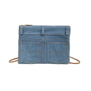 Meloke 2018 new women denim shoulder bags single small cross body bags vintage style message drop shipping MN1208