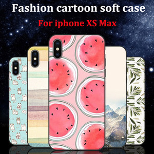 2PCS For iphone XS max case cover cartoon cover For iphoneXS max case soft back cover For iphone XSMax phone cases shell coque