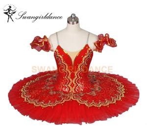 Rouge Paquita Classique Professionnel Ballet Tutus Filles Espagnol Ballerine Nucracker Plateau Costume Scène Enfants BT8944E