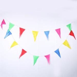 1 pc 10 m rainbow casamento bunting bandeiras cadeia bandeira mercados festa de aniversário de natal decoração de natal banner