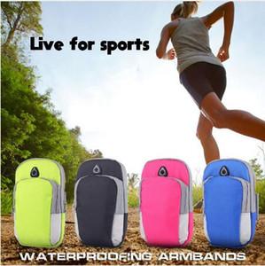 Telefone celular universal saco de braço faixa de esportes ao ar livre correndo braçadeira caso titular pounch à prova d 'água para iphone x 7 8 6 plus samsung s9 s8