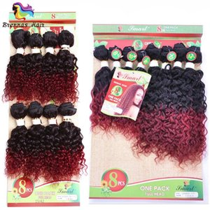 8pcs pack for full head hair extension deep curly Brazilian hair kinky curly natural black color ombre brown natural wave for UK,US