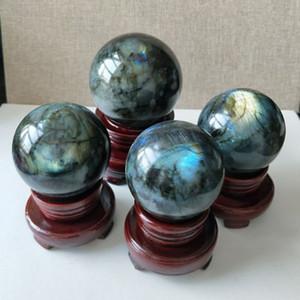 1 шт. 5 см Оптовая природный кристалл Лабрадорит сферы исцеление Радуга драгоценных камней шары + стенд бесплатная доставка