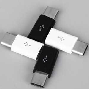 Android Micro USB To Type-C USB C 3.1 Type C Adaptor Data Transmission Charger Adapter Black White Color Car Can Use