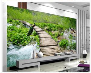 Forest stream trail landscape 3d TV sfondo muro murale 3d wallpaper sfondi bellissimo paesaggio