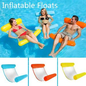 PVC Floating água Hammock Float espreguiçadeira inflável floating bed espreguiçadeira flutuante cadeira cama Piscina acessórios de cama