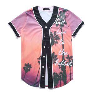 Wholesale Free Shipping Men Women T-shirt Unisex 3d Digital Print Characters Lovely Baseball Jersey Summer Tops Button Shirts