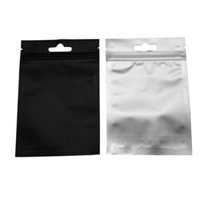 Kese Kendinden yalıtılmış Depolama Paketi Bags 100Pcs / Lot Alüminyum Folyo Fermuar Paketi Torba Ambalaj 8.5 * 13cm Siyah Kapanabilen Kilitli Temizle Plastik