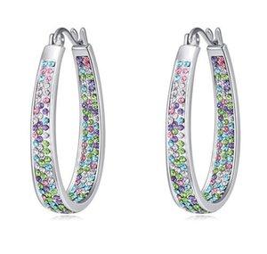 Lustre Dangle Boucles d'oreilles Mode Femmes luxe de haute qualité platiné cristal autrichien Boucles d'oreilles Goutte Bijoux