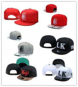 Yeni Moda Son Kings Deri Snapback şapkalar beyaz lastking LK Tasarımcı Marka erkek kadın beyzbol kapaklar hip-hop sokak ...