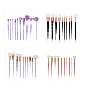 10Pcs Set Oval Makeup Brush Eyeliner Eyebrow Make Up Brushes Maquillaje Shaving Fast Ship