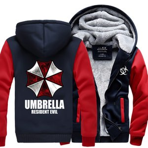 Wholesale- Resident Evil Umbrella Hoodies 2016 winter new warm fleece Anime umbrella men sweatshirts high quality men jacket for fans M-4XL