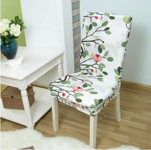 Floral Printing Anti-dirty Stretch Chair Covers Elastic Chair Protector Slipcover Dinning Room fundas de sillas elasticas