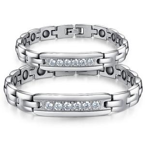 316L Bracelet magnétique bracelet en titane sain Bracelet en acier inoxydable pour l'homme et la femme Couple titane acier intégré Scalar Energy