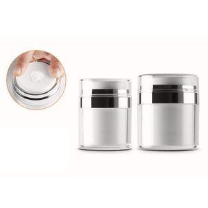 50g / 50ml Airless acrílico creme frasco redondo vácuo creme garrafa cosméticos maquiagem frasco pacote de bomba de embalagem QW7469