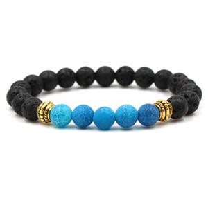 2018 New Yoga Lava Rock Bracciali Turchese Agenti atmosferici Agata oro placcato braccialetti per le donne uomini regalo KKA1884