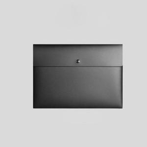 A4 A5 حجم البلاستيك الأسود الأبيض واضح وثيقة ملف مجلد ملف المنظم حامل حقيبة مع إغلاق مشبك ZA6336