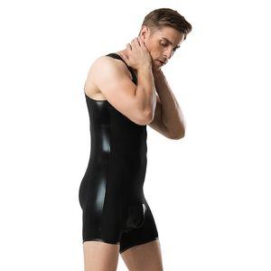 Hommes Sexy Bodysuits Sous-vêtements Sous-vêtements Débardeurs Solide Ultra-Thin Ice Soie T-Shirt Bodybuilding Gym Vêtements Hommes Vente Chaude Débardeurs
