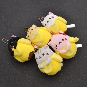 الأزياء يتشي اليابانية أنيمي الفيلم bananya القطيفة دمية مفتاح سلسلة لعبة حقيبة قلادة هدية الساخنة ل شياطين 5 ألوان