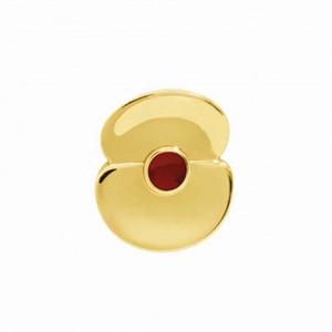 3/5 de polegada banhado a ouro somme 100 poppy lapela broche de pino de ouro tom século distintivo