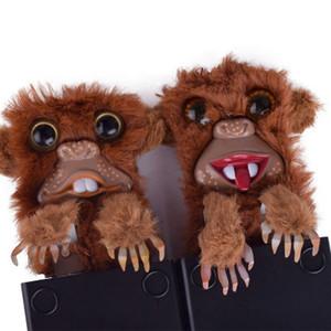 Nova Moda Engraçado Macaco Brinquedo Paródia Macaco Brinquedos Pet Prankster Jitters Pêlo De Plástico Marrom Pet Surpresa Brinquedos De Pele De Plástico Dedo brinquedos