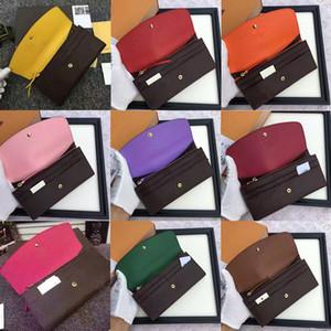 Ücretsiz shpping Toptan kırmızı dipleri lady uzun cüzdan renkli tasarımcı sikke çanta Kart sahibinin orijinal kutusu kadın klasik fermuar cebi