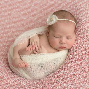 Sciarpa infantile Fotografia neonata Prop Wrapping Towel Knit Posing Wrap Swaddle Coperta Biancheria da letto Sleepsacks 7 84xd ii