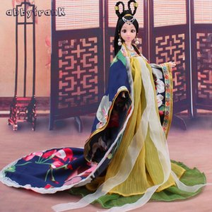 AbbyFrank New Doll Toy Princess 12 Movable Joints Dolls With s Plastic Parts Ancient Clothing Figure Doll Toys For Girls