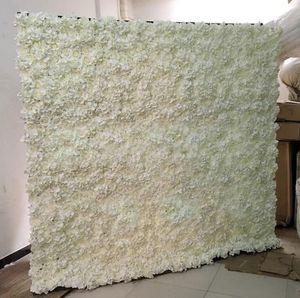 2.4MX2.4M Romantique Artificielle Rose Hortensia Fleur Mur avec Stand Noir Fer Plié Pipe Fleur Cadre Pour Mariage Fête Décoration Fourniture