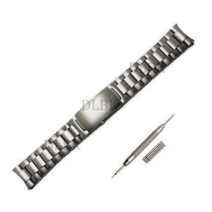 İzle Aksesuarları 20mm 22mm Watchband Fırçalanmış Pardesü Saf Katı Paslanmaz Çelik Kelebek Toka Kayışı Omega Için Bilezik Izle + aracı