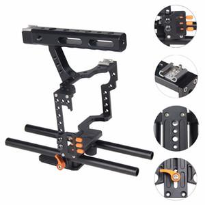 A7 A7II A7R A7SII, GH4 GH3 용 상단 핸들 그립과 함께 C5 소형 조작 카메라 케이지 도매