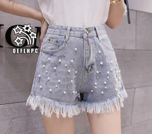 Shorts en denim Pantalons larges pour femmes Vêtements Jeans pour femmes Vêtements de mode décontractés Pantalons de cowboy Shorts en jean Wathet Hole Ripped A5121 #