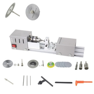 DIY Mini Lathe Polisher Grinder Driller Table Saw Machine Polishing Cutting Tools For Plastic and Wood Soft Metal Woodworking