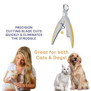 Clipper profissional para cães Prego do cão Trimmer Pet Cat Garra Grinder Com DIODO EMISSOR de Luz 5X Lupa Segurança Pet Nail Clippers Cat Grooming