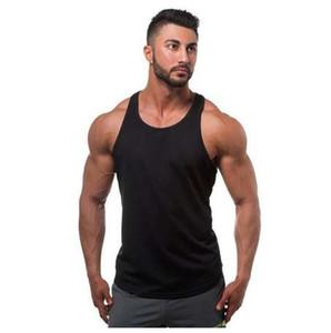 Camisetas sin mangas de los hombres del algodón sin mangas de la manera 2017 nuevas camisetas del diseño chaleco de la ropa del color sólido con estilo suave