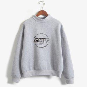 Marke Mode Herbst Winter Fleece Frauen Hoody Harajuku Got7 Nette Kpop Hoodies Großhandel Sweatshirts Moletom Pullover Top