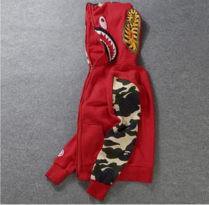 NUEVO diseñador con capucha para hombre con capucha StreeWear Escudo del basculador Sportwear Pullover Fleece con capucha Negro de Hip Hop con capucha Hombres Ropa de Shiping