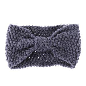 1 PC Moda Meninas Crochet Com Nó Turbante Headband De Malha para As Mulheres Envoltório Hairband Inverno Ear Warmer Turban Acessórios Para o Cabelo