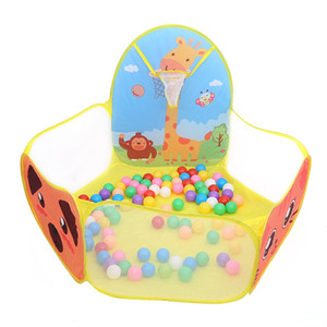 Portable Baby Playpen Niños Outdoor Indoor Ball Pool Play Tent Kids Safe Juegos plegables Juego Pool of Balls for Kids Gifts