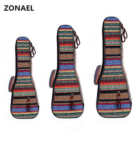 ZONAEL 21 23 26 Inch Padded Cotton Folk Portable Bass Guitar Gig Bag Ukulele Case Box Cover Guitar Backpack With Double Strap