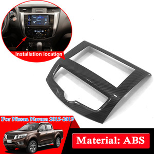 Car Styling ABS Chrome For Nissan NP300 Navara D23 2017-2019 Car Inside Navigation Frame Sequins Decoration Cover Auto Accessories