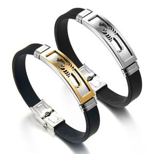 Mais novo Pulseiras De Silicone Ouro Prata Do Punk Aço Inoxidável pulseira Escorpião Projeto Comprimento Ajustável Homens Jóias Pulseiras presentes