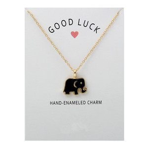 Bestselling NO Dogeared LOGO New Glaze Good Luck Elephant Necklace Alloy Clavicle snake Pendant Short Necklace For Women