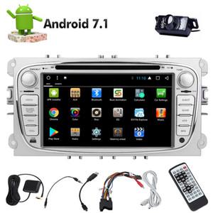 Câmera traseira Dupla 2din Android 7.1 Leitor de DVD Do Carro em Traço Autoradio Navegação GPS Do Carro Estéreo Bluetooth Duplo Din Head Unit Octa Núcleo