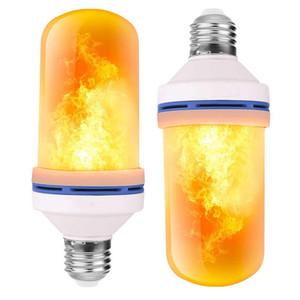 Lâmpadas de fogo de efeito de chama de LED E26 E27 B22 4 modos com efeito de cabeça para baixo Simulado iluminação de atmosfera decorativa decorativa